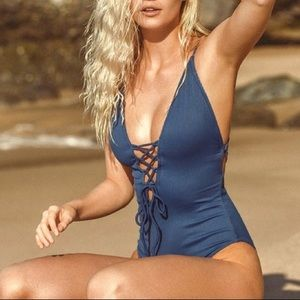 NWT Blue Cupshe One Piece Swimsuit